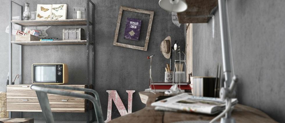 Rubber barber: Vintage Blalank Studio Driftwood shelf bedroom furniture
