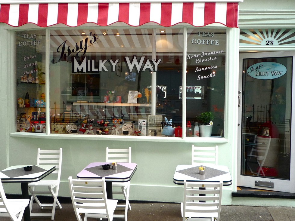 Vintage Coffee Shop London's Best Vintage Coffee Shop issy milky way vintage beste coffe london CAPA