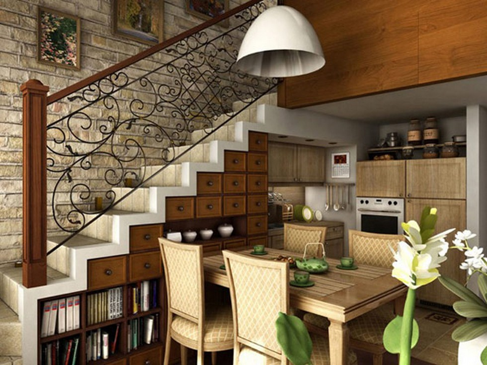 6 Vintage Ways to Decorate Your Stairs Extravagant shelf space under the stairway
