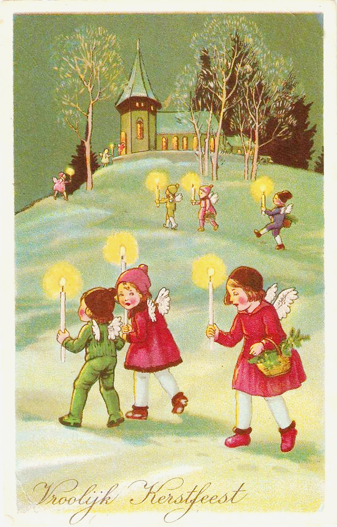 childs with candles  Must_see_vintage_Christmas_ideas_and_decorations_15 Must see vintage Christmas ideas and decorations 15