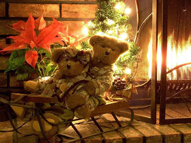 christmas teddy bears  Must_see_vintage_Christmas_ideas_and_decorations_18 Must see vintage Christmas ideas and decorations 18