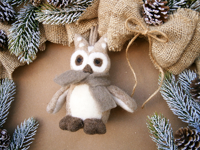 christmas owl decoration  Must_see_vintage_Christmas_ideas_and_decorations_4 Must see vintage Christmas ideas and decorations 4