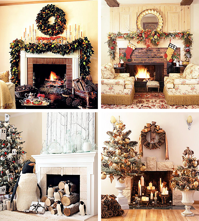 fireplaces christmas decoration  Must_see_vintage_Christmas_ideas_and_decorations_7 Must see vintage Christmas ideas and decorations 7
