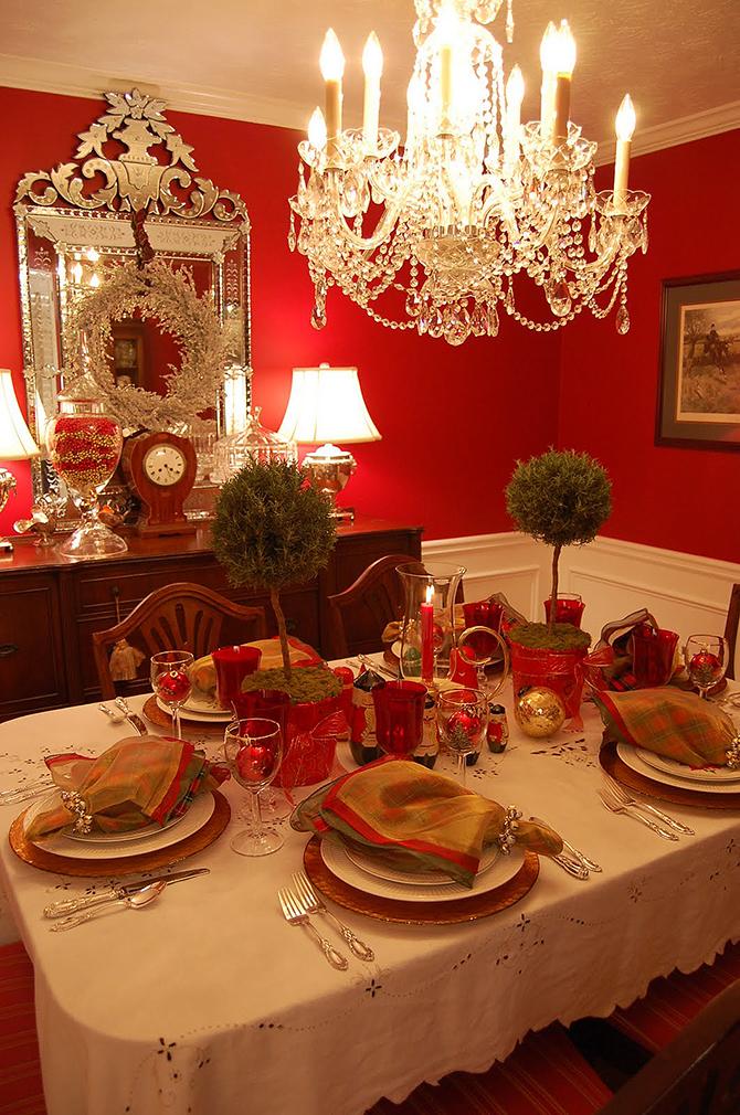 christmas dinning room  Must_see_vintage_Christmas_ideas_and_decorations_9 Must see vintage Christmas ideas and decorations 9