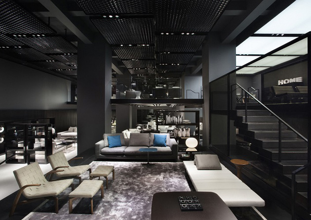 MINOTTI CELEBRATES ITALIAN DESIGN WITH AD interior design news minotti new york store delightfull unique lamps 02