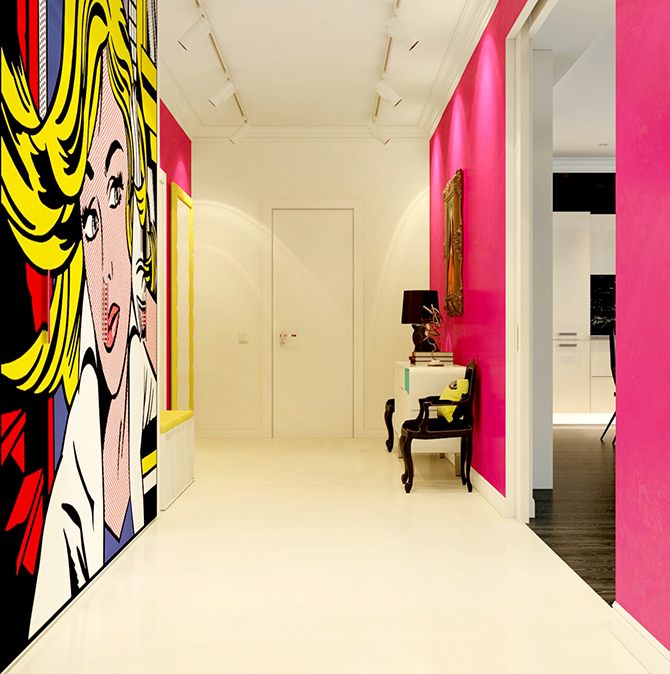 """pop art hall""  great ways to design your interiors with pop art style_1 great ways to design your interiors with pop art style 1"