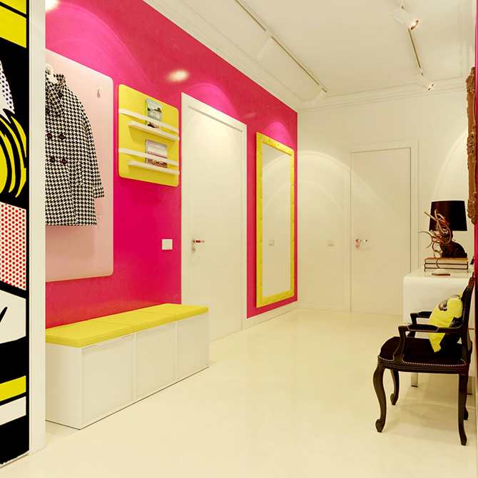 """""""colorful hall""""  great ways to design your interiors with pop art style_3 great ways to design your interiors with pop art style 3"""