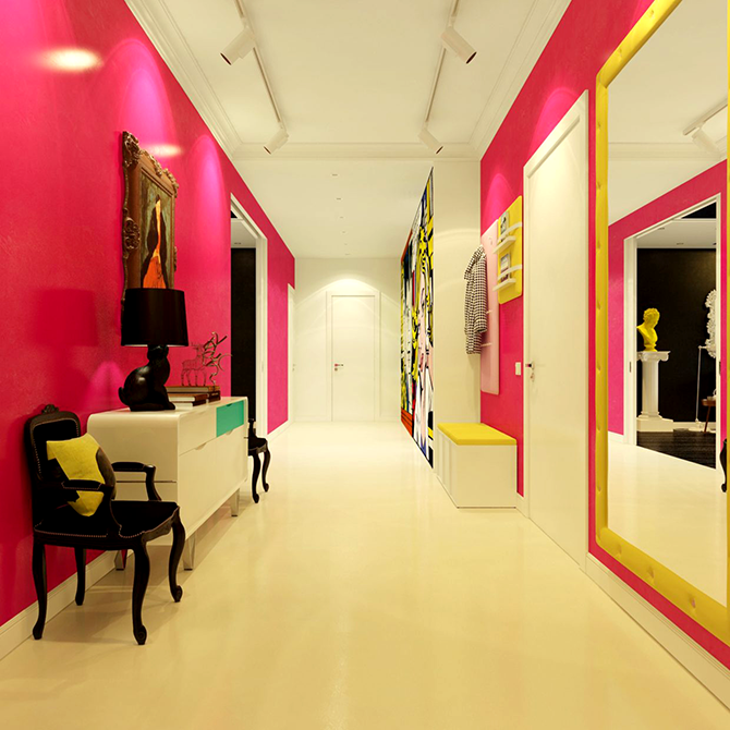 """colorful hall""  great ways to design your interiors with pop art style_5 great ways to design your interiors with pop art style 5"