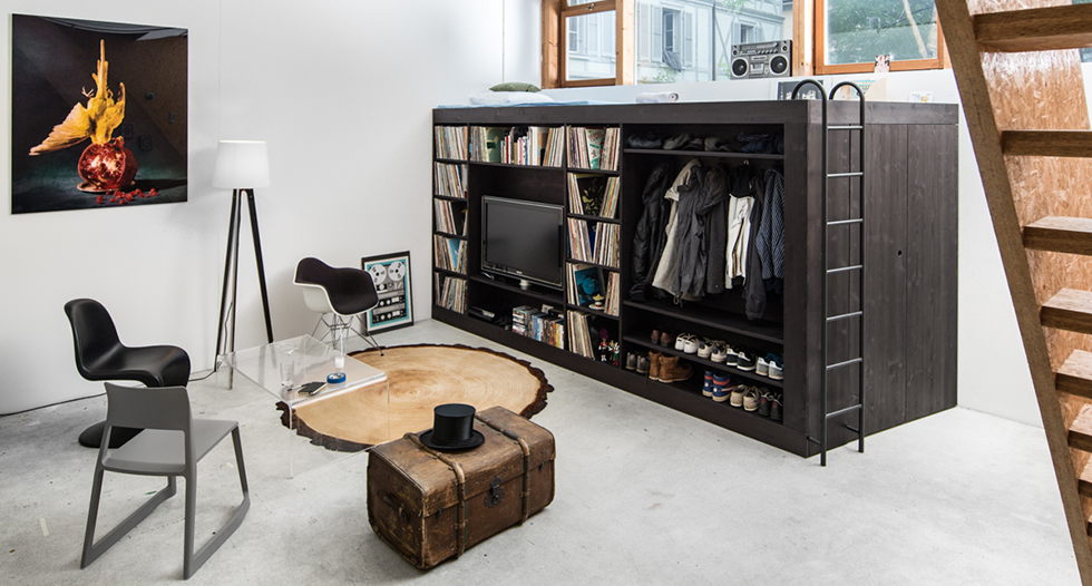 10 ways to decorate a small appartment with industrial style  living cube 11
