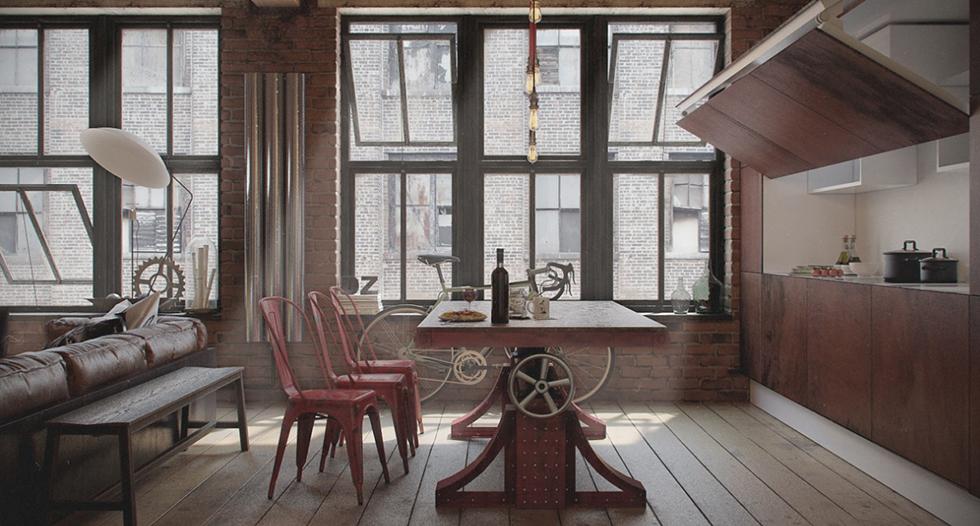 """dining room"" industrial style Top 5 Industrial Style Dinning Rooms top 5 industrial style dinning rooms capa"