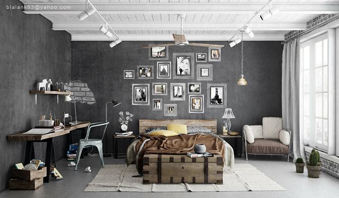 """""""industrial bedroom"""""""