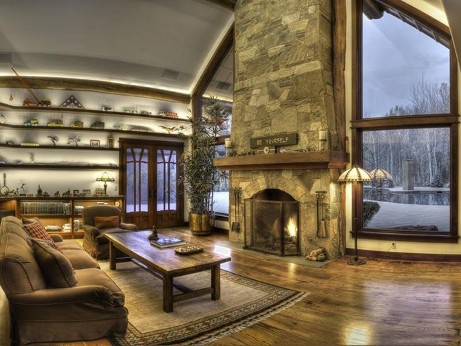 """living room with fireplace"""