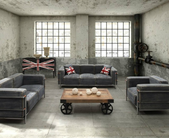 Cool Industrial Living Room Cool Industrial Living Room