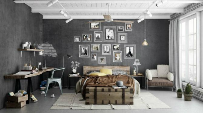 Industrial bedroom scheme Industrial bedroom scheme 665x389