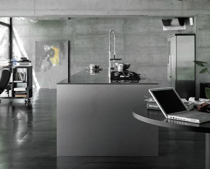 industrial style kitchen interior in grey theme with concrete wall industrial style kitchen interior in grey theme with concrete wall decor ideas