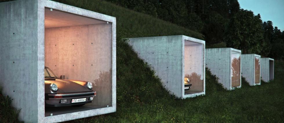 Garagenatelier in Herdern by Peter Kunz Architektur Garagenatelier in Herdern