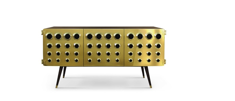 Perfect Sideboards for your Bar delightfull monocles vintage retro urban wood brass sideboard front