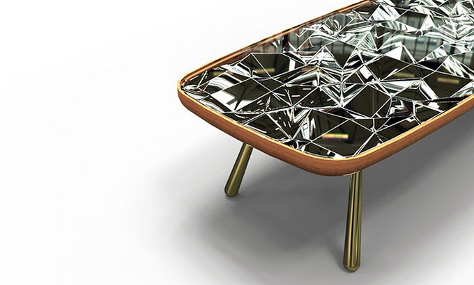 table  André teoman studio: amazing mirrored kaleidoscope table  Andr   teoman studio mirrored kaleidoscope table featured
