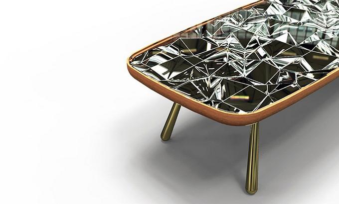André teoman studio: amazing mirrored kaleidoscope table