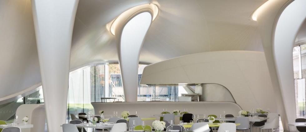 the magazine restaurant Zaha Hadid Zaha Hadid luxury restaurant: The Magazine the magazine
