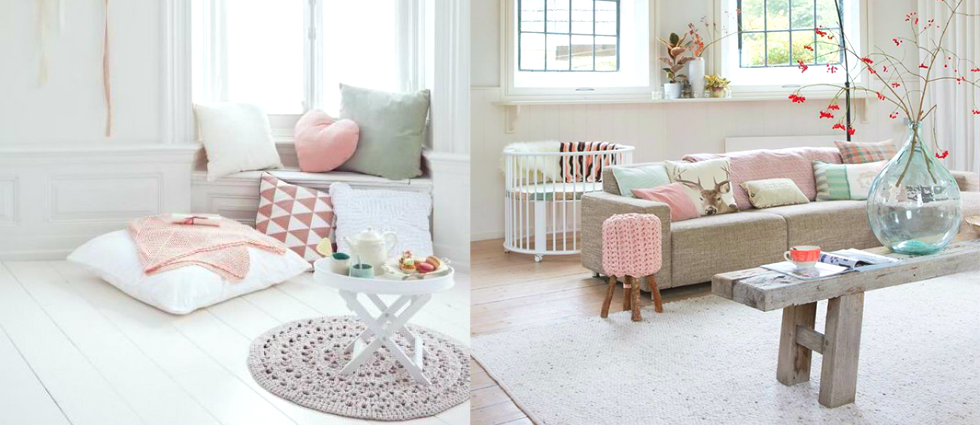 Vintage industrial decor: how to use pastel colors
