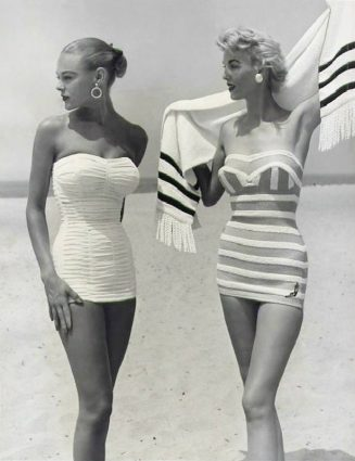 vintage fashion 5 timeless vintage fashion pieces to wear this Summer! 5 timeless vintage fashion items to wear this Summer one piece bathing suits1 1 327x425