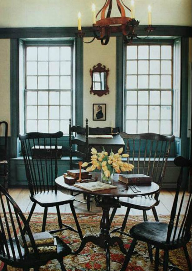 colonial dining rooms | American Colonial Living Rooms