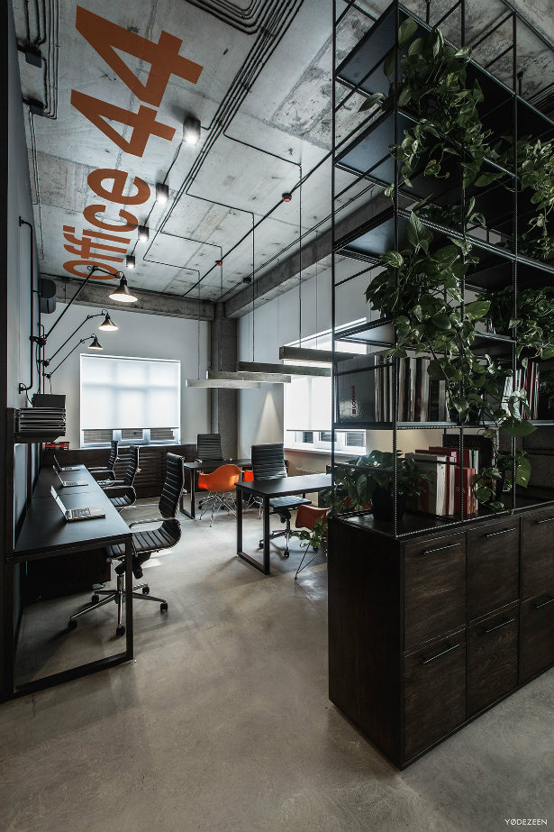 Interior Design Space: Offices With An Industrial Interior Design Touch