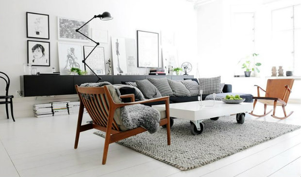 Scandinavian Design Mingles With Industrial Style