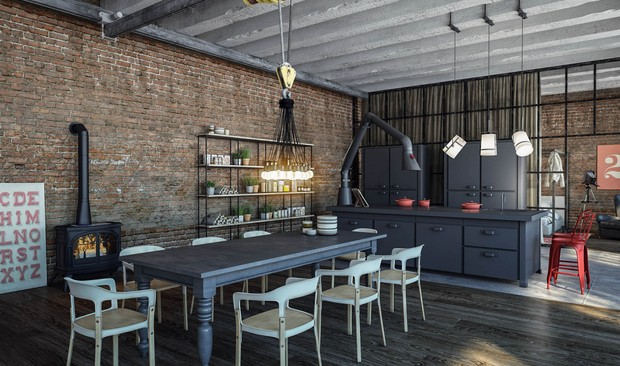 Do you know how to make an industrial kitchen?