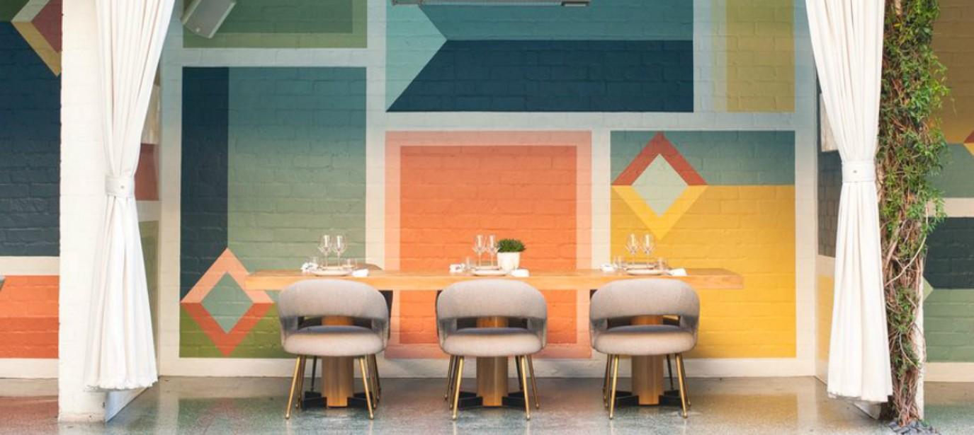 interior designers, mid-century, interior design style Mid-century Restaurant Design by Kelly Wearstler-3