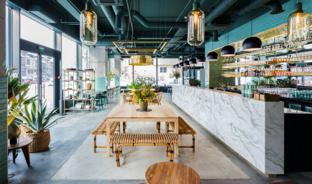 Industrial Style Restaurant with a Greenery-Themed Decor FEAT industrial style restaurant Industrial Style Restaurant with a Greenery-Themed Decor Industrial Style Restaurant with a Greenery Themed Decor FEAT