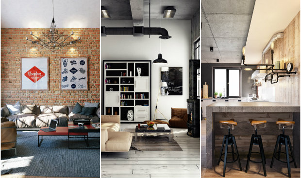 3 Stunning Industrial Lofts To Inspire You 15 industrial lofts 3 Stunning Industrial Lofts To Inspire You collage feat