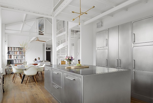 An Industrial Style Kitchen in Romantic Paris You'll Love!