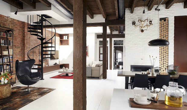 From a Fire Station to an Industrial Loft