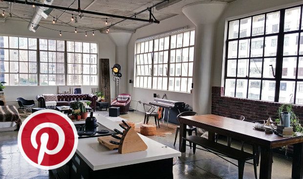 industrial lofts What's Hot on Pinterest: 5 Industrial Lofts Whats Hot on Pinterest 5 Industrial Lofts FEAT