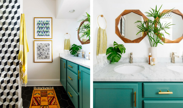 Vintage Decor Bathroom With Bold Colors and Geometric Shapes vintage bathroom decor Vintage Bathroom Decor With Bold Colors and Geometric Shapes Vintage Decor Bathroom With Bold Colors and Geometric Shapes 1