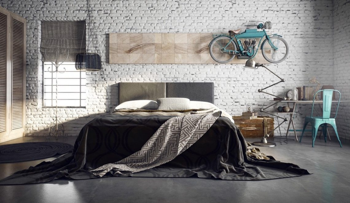 industrial style beds Magnificent Industrial Style Beds! How To Create The Perfect Industrial Bedroom Design 7 1140x660