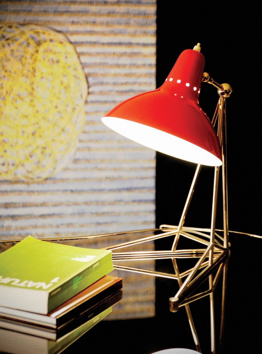 vintage red lamps