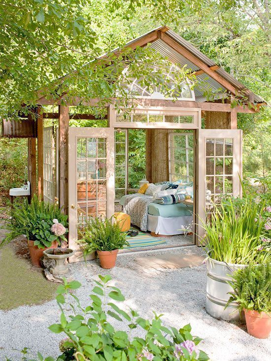quarantine 6 Fun and Creative Garden Rooms To Relax (Or Work) During Quarantine! 🍃 1 2