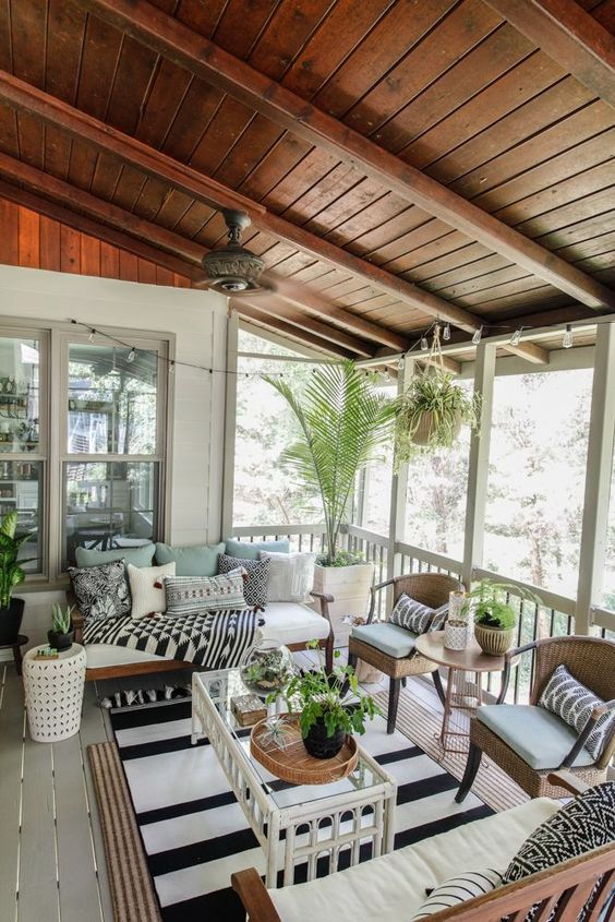 15 Porch Design Ideas That Will Have You Outside All Summer Long ☀️ porch design ideas 15 Porch Design Ideas That Will Have You Outside All Summer Long ☀️ 16 1